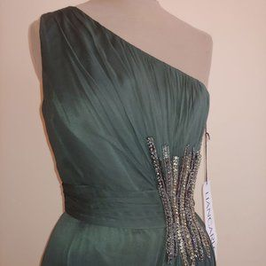NWT Liancarlo Style#1124 Formal Gown Hunter Green